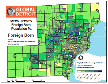 Metro Detroit's Foreign-born Populations--Full
